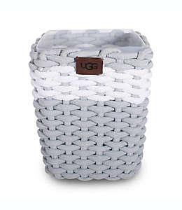 Bote de basura de algodón/plástico UGG® Napa con tejido de cuerda color gris agave