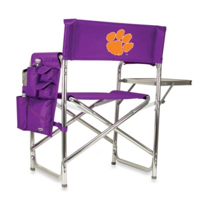 image of Picnic Time® Clemson University Collegiate Folding Sports Chair in Red