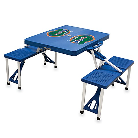 Picnic Time® University of Florida Collegiate Foldable Table with Seats