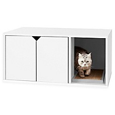 image of Way Basics Litter Box Cabinet with Scratching Pad