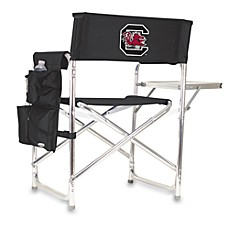 image of Picnic Time® University of South Carolin Blacka Collegiate Folding Sports Chair in Black