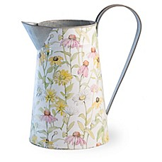 image of Boston International Daisy Field Decorative Watering Can