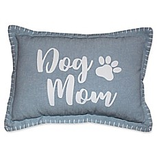"image of Vintage House by Park B. Smith® ""Dog Mom"" Oblong Throw Pillow in Blue"