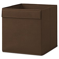 image of Real Simple® Fabric Bin in Espresso
