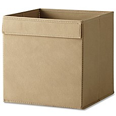 image of Real Simple® Fabric Bin in Taupe