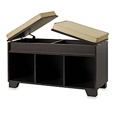 image of Real Simple® 3-Cube Split-Top Storage Bench in Espresso