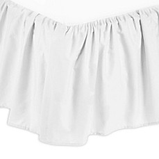 image of TL Care® Percale Cotton Mini-Crib Bed Skirt in White
