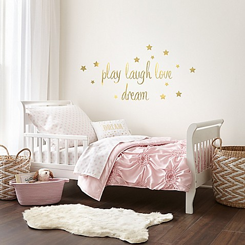 Levtex Baby Willow 5 Piece Toddler Bedding Set In Pink