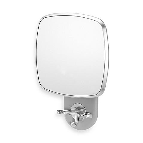Simplehumanu0026reg; Anti Fog Wall Mount Shower Mirror