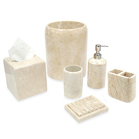 Spa Stone Champagne Marble Boutique Tissue Holder