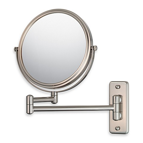 Mirror Image™ 211 5X/1X Series Double Arm Wall Mirror with Brushed Nickel Finish