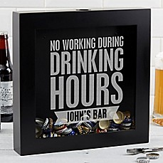 image of Beer Quotes Beer Cap Shadow Box
