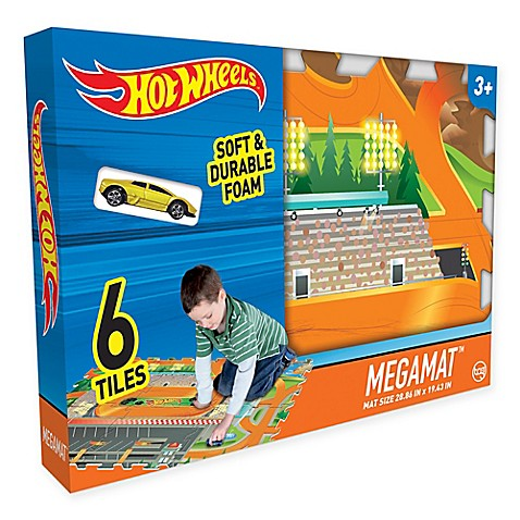 Hot Wheels 6 Piece Mega Floor Mat With Vehicle Buybuy Baby