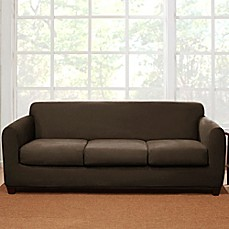 Sure Fit® 4 Piece Stretch Suede Sofa Slipcover