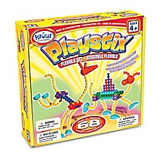 image of Popular Playthings 68-Piece Playstix Flexible Set