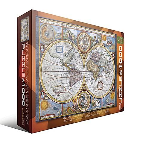 Eurographics antique world map 1000 piece jigsaw puzzle bed bath eurographics antique world map 1000 piece jigsaw puzzle gumiabroncs Gallery