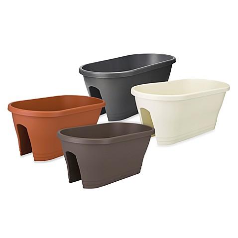 exaco trading co corsica 24 inch oval flower bridge planter bed bath beyond. Black Bedroom Furniture Sets. Home Design Ideas