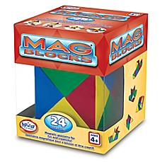 image of Popular Playthings Mag Blocks 24-Piece Set