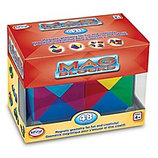 image of Popular Playthings Mag Blocks 48-Piece Set