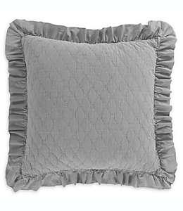 Funda decorativa Levtex Home para almohada tamaño europeo en gris