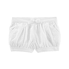image of OshKosh B'gosh® Tie-Front Swiss Dot Shorts in White