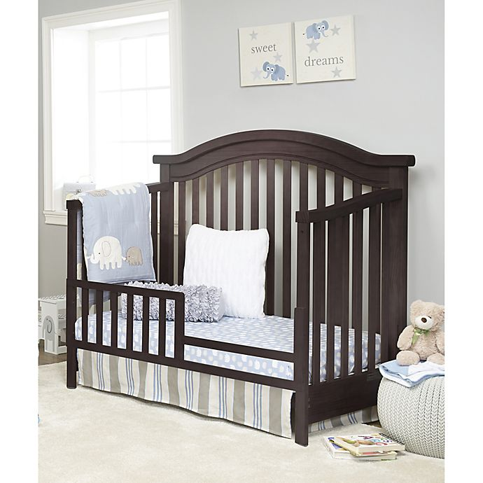Sorelle Vista Elite Crib And Changer Toddler Bed Rail In Espresso Buybuy Baby