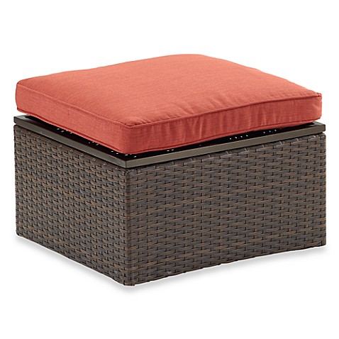 Stratford Wicker Storage Ottoman Bed Bath Amp Beyond