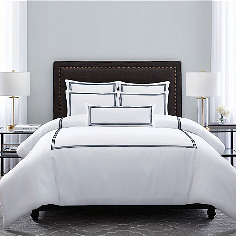 wamsutta 174 hotel triple baratta stitch comforter set bed 18336 | 18580063325901m 478