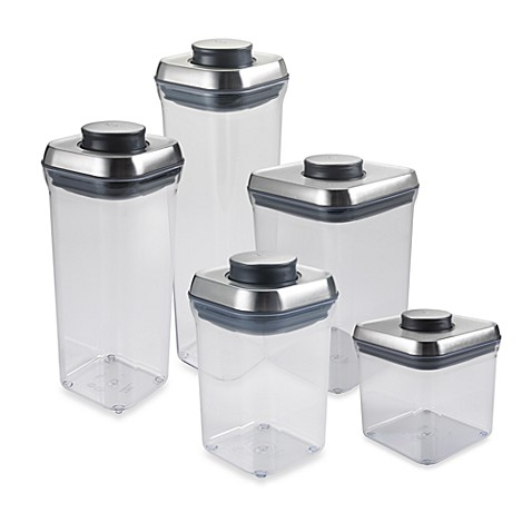 OXO SteeLu0026trade; POP Square Food Storage Container  sc 1 st  Bed Bath u0026 Beyond & OXO SteeL™ POP Square Food Storage Container - Bed Bath u0026 Beyond