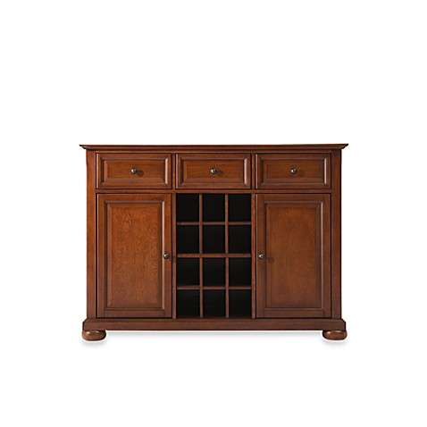 credenza cabinet buy crosley alexandria buffet server sideboard cabinet in 14241