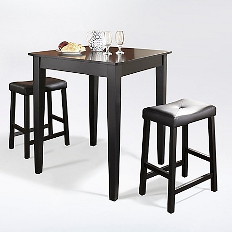 Buy Crosley Tapered Leg Pub Dining Set With Saddle Stools