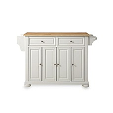 image of Crosley Alexandria Natural Wood Top Kitchen Island