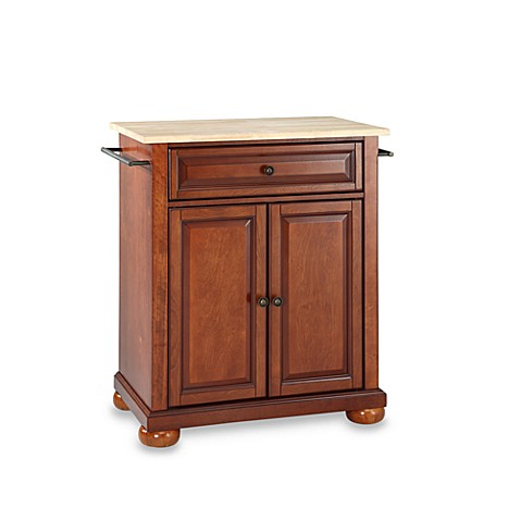 Buy Crosley Alexandria Wood Top Portable Kitchen Island In Cherry From Bed Bath Beyond