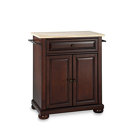 Buy Crosley Alexandria Wood Top Portable Kitchen Island In