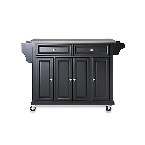 kitchen island stainless steel top buy crosley rolling kitchen cart island with stainless 24786