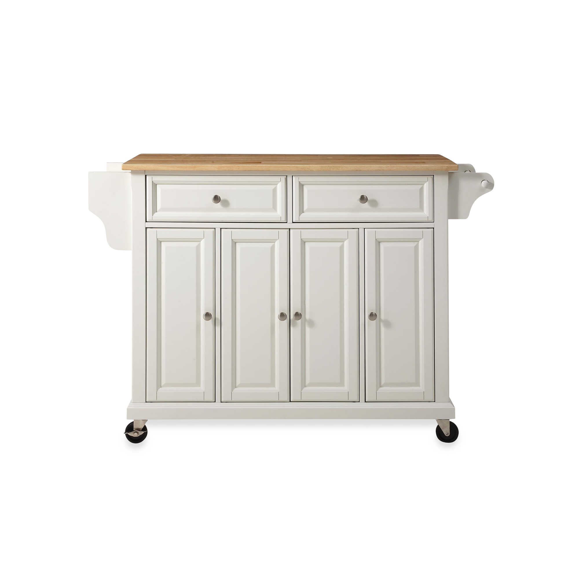 Crosley Natural Wood Top Rolling Kitchen Cart/Island - Bed Bath & Beyond