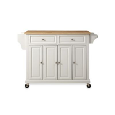 Crosley Natural Wood Top Rolling Kitchen Cart/Island