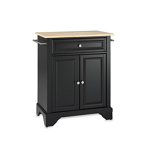 Buy Crosley Lafayette Wood Top Portable Kitchen Island In Black From Bed Bath Beyond