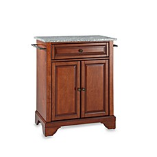 image of crosley lafayette solid granite top portable kitchen island
