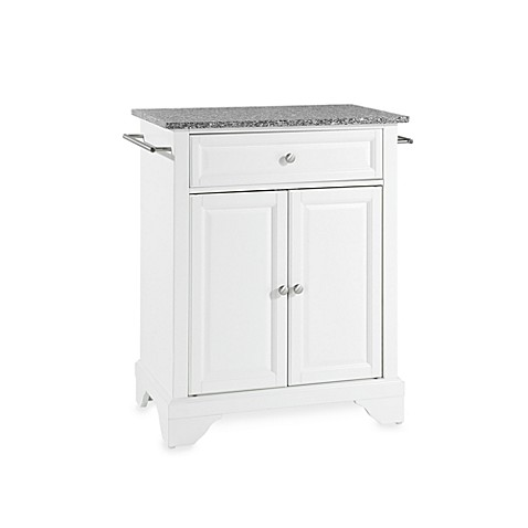 Buy Crosley Lafayette Solid Granite Top Portable Kitchen Island In White From Bed Bath Beyond