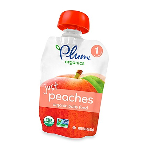 Plum Organics™ Just Fruit Peaches Baby Pouch