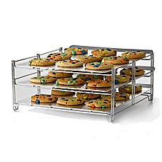 image of Betty Crocker 3-Tier Baking and Cooling Rack in Chrome