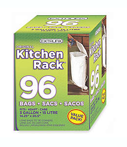 Bolsas Original Kitchen Rack™ de 11.35 L en blanco, Paquete de 96 pzas