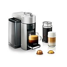 NespressoR By DeLonghi Vertuo Evoluo Coffee Maker With Aeroccino In Silver