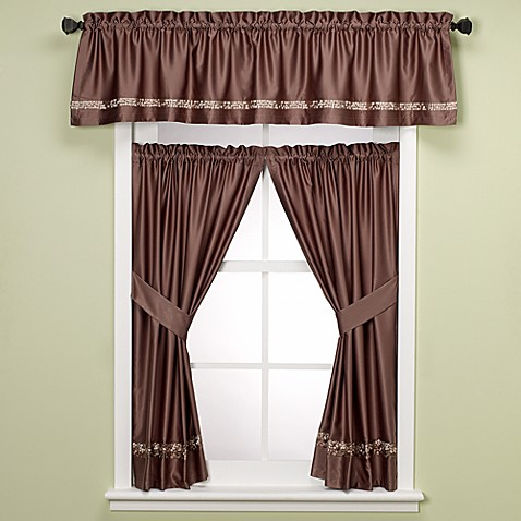 Buy croscill mosaic tile bathroom window valance from bed bath beyond Bathroom valances for windows