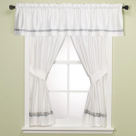 Croscill 174 Spa Tile Bathroom 45 Inch Window Curtain Panel
