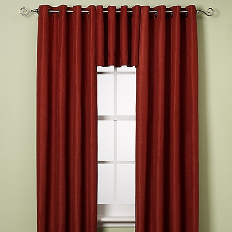 Reina Grommet Window Curtain Panel And Valance Bed Bath