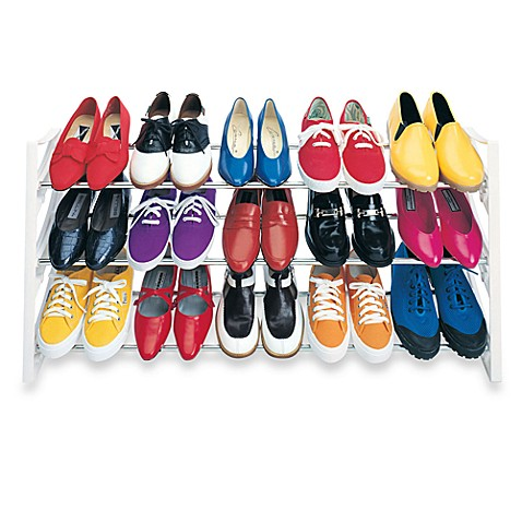 Convertible 15 Pair Shoe Rack