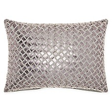 image of Mina Victory By Nourison Faux Leather Oblong Throw Pillow in Natural