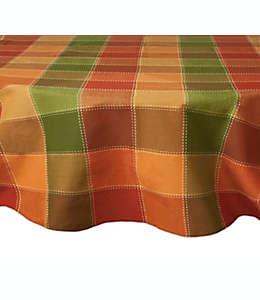 Mantel de mesa redondo con diseño de cuadros